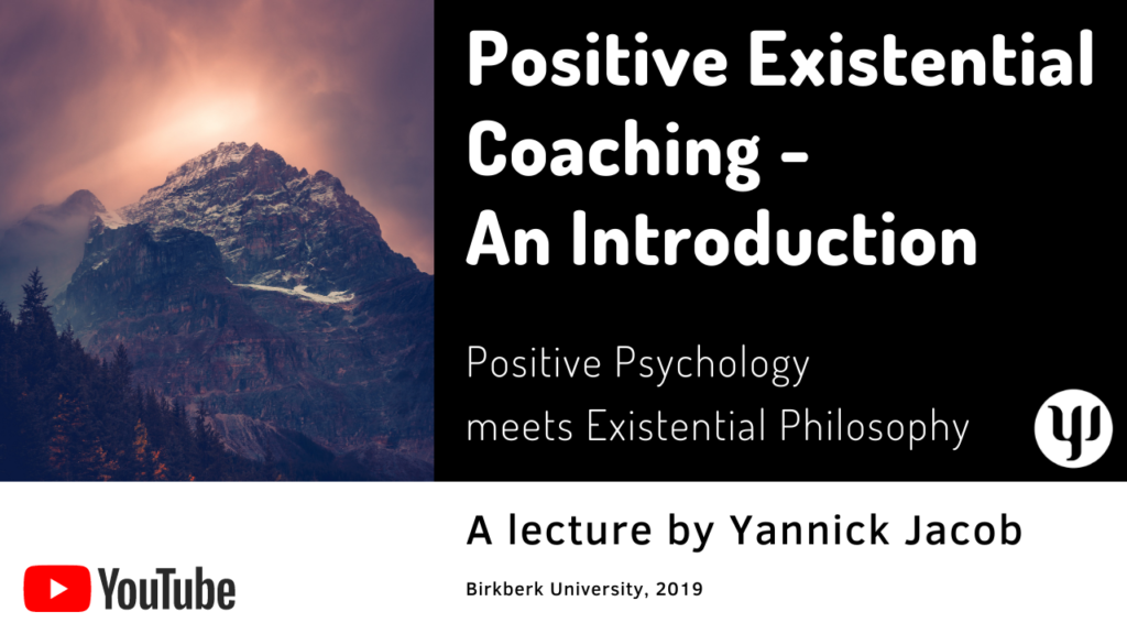 positive existential coaching, Birkbeck University, 2019